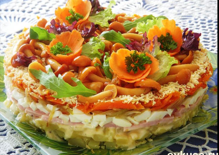 Постные салаты на праздник рецепты с фото