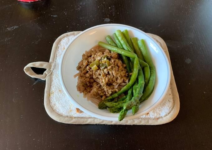 Taiwanese minced pork rice bowl