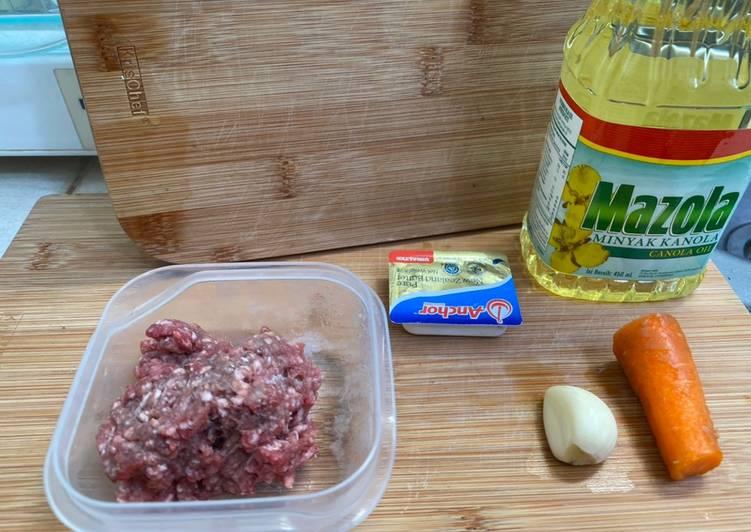 12 Resep: Mpasi 6+m Bubur daging wortel Anti Gagal!