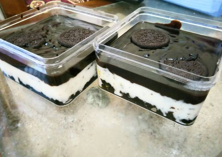 Oreo cheese dessert box (no mixer no bake)