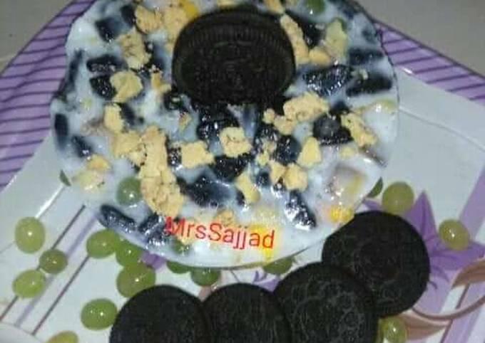 Oreo fruit pudding