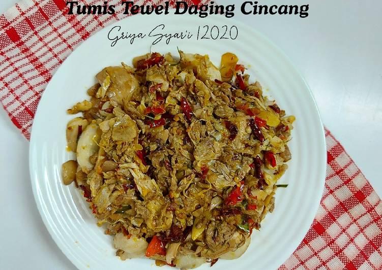 Tumis Tewel Daging Cincang
