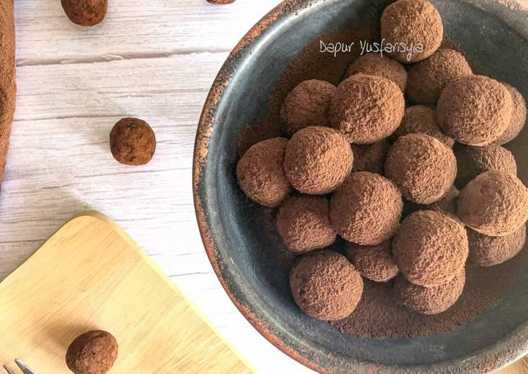 Truffle Coklat Susu Manis - resepipouler.com