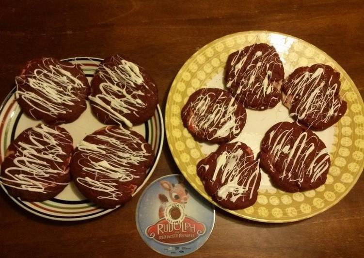 Recipe: Perfect Red velvet cheesecake cookies