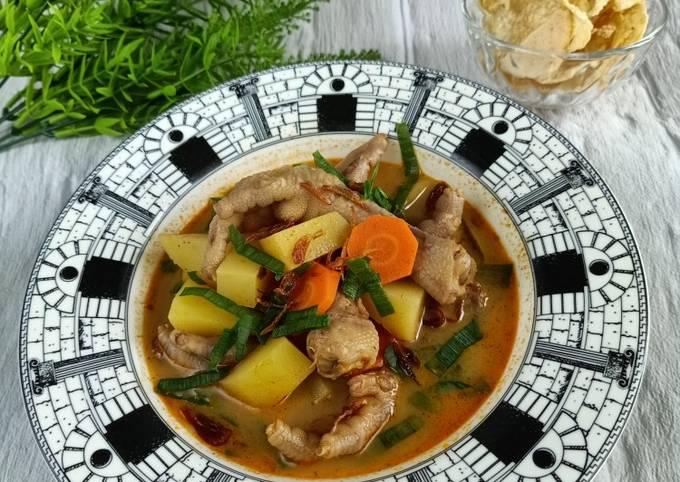 Soto Ceker Ayam simple