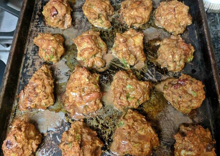 Meat balls with chicken liver
