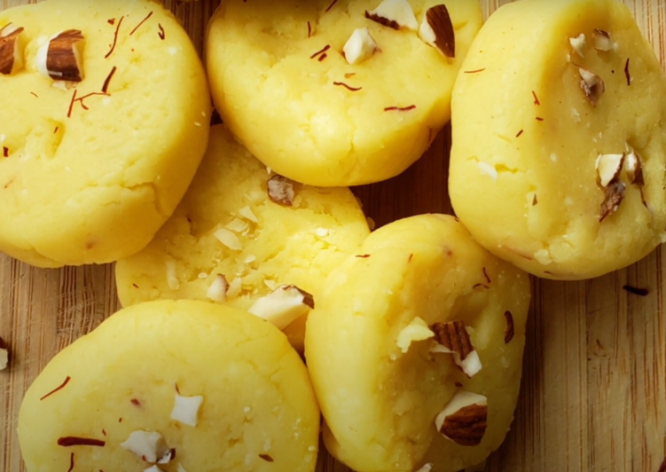 Instant KesarMalai Peda Recipe | Malai Peda | Mawa Peda | Only 3 ingredient and instant recipe