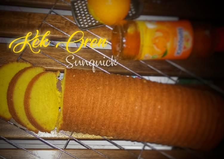 resep kek oren sunquick santapan siang Resepi Kek Oren Tanpa Mentega Enak dan Mudah