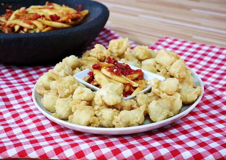 Cumi Goreng Tepung Crispy & Sambal Mangga