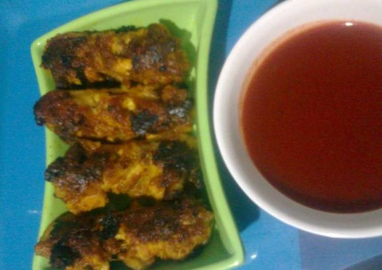 Barbequed Chicken wings with Chilli Sauce