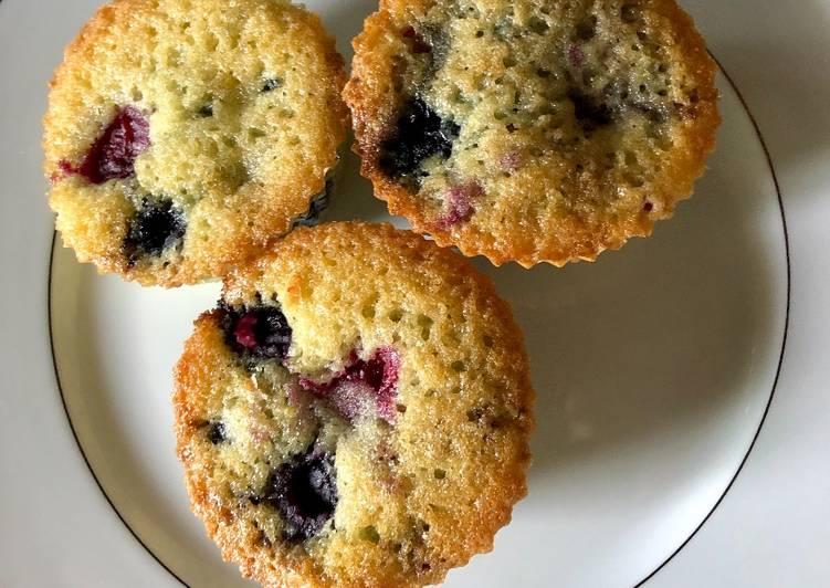 La Meilleur Recette De Muffins aux fruits rouges
