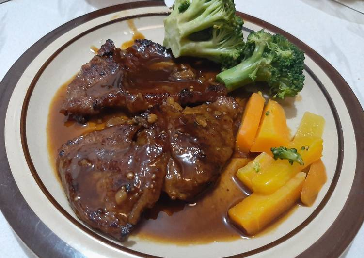 steak daging sapi ala rumahan foto resep utama