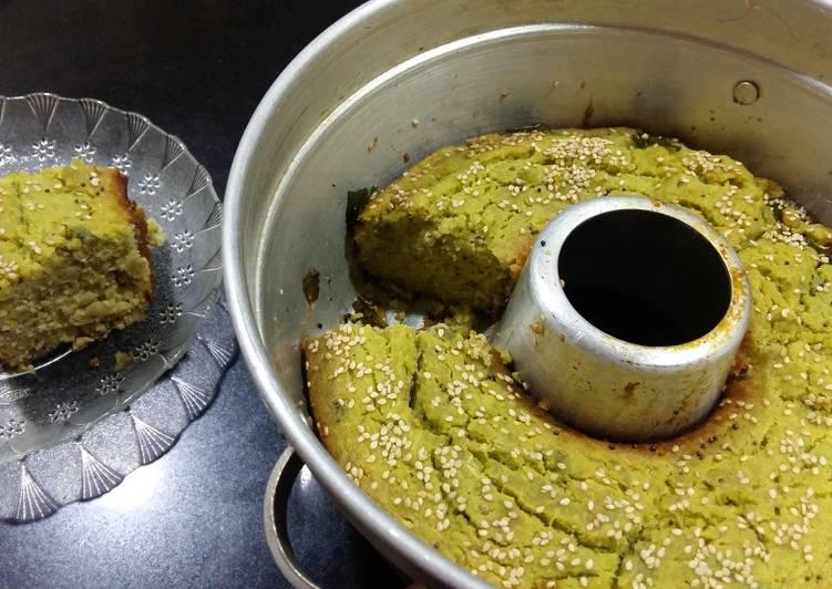 Healthy green Handvo (Healthy Green Handvo Recipe In Gujarati)