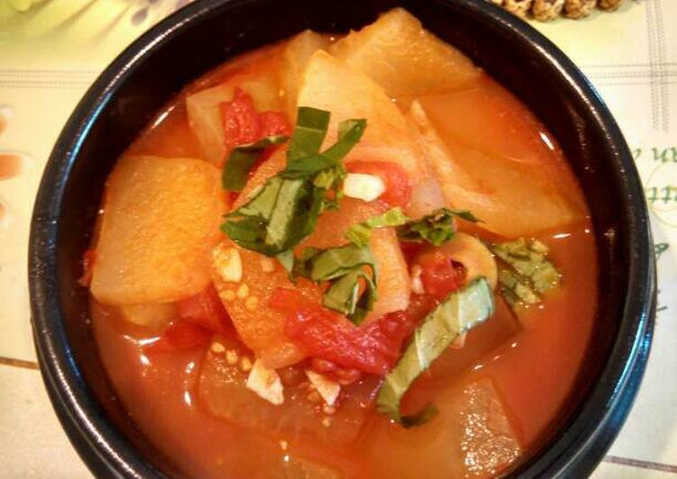 White Gourd and tomato soup 🍅番茄冬瓜汤