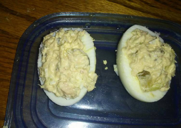 Tuna Salad Deviled Eggs
