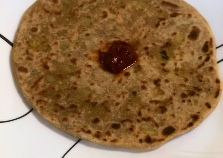 Simple Way to Prepare Any-night-of-the-week Aloo(Potato) parata