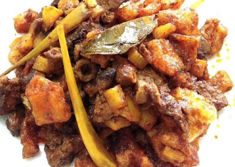 Sambal goreng kentang+krecek+ati ampela