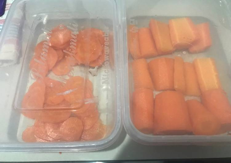 Blansing wortel