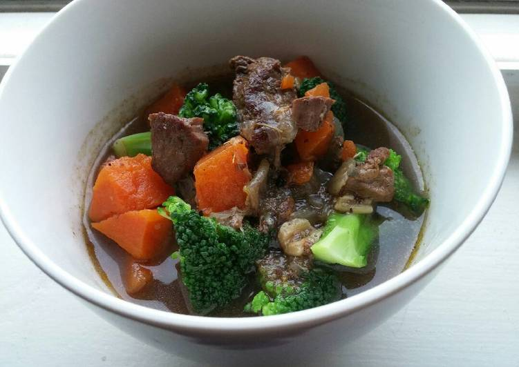 Recipe of Super Quick Homemade Slow Cooker Beef Veggie Stew