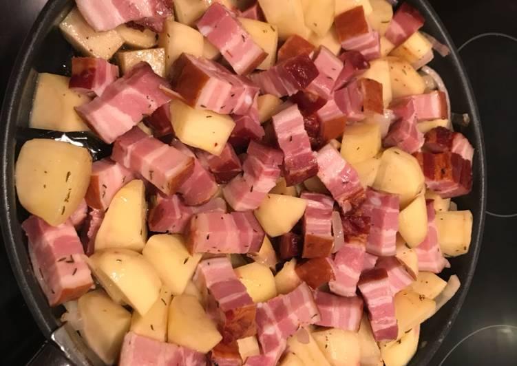 Pommes de terre au lard