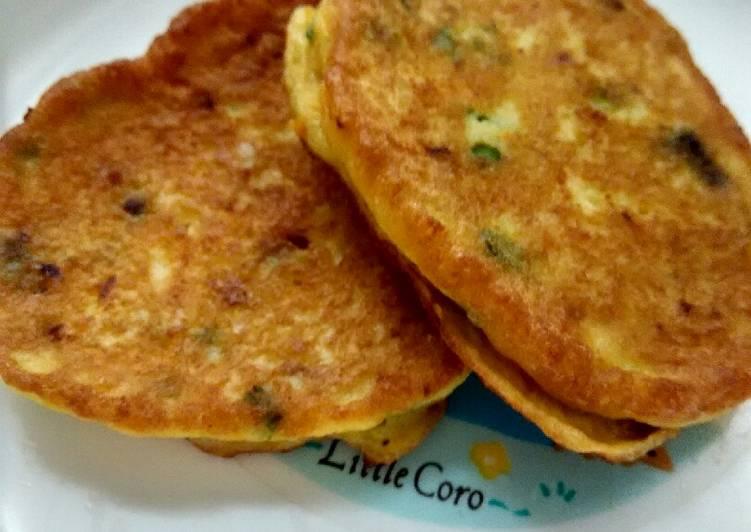 Day. 129 Cheese Chicken Pancake (10 month+)