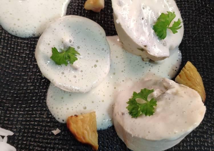 Poulet à la crème d'algues kombu