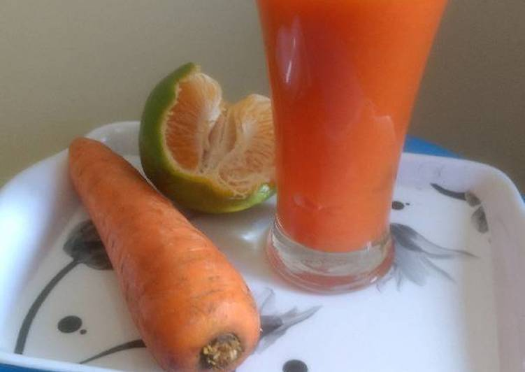 Carrot and orange health drink
