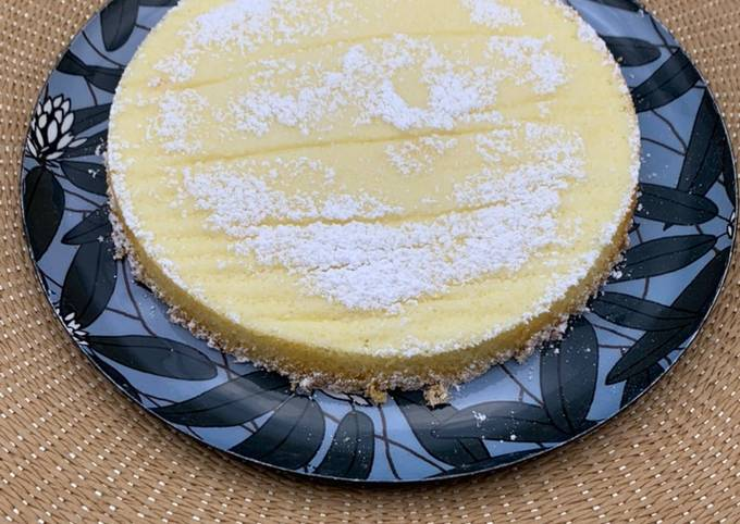 Gâteau léger au chocolat blanc