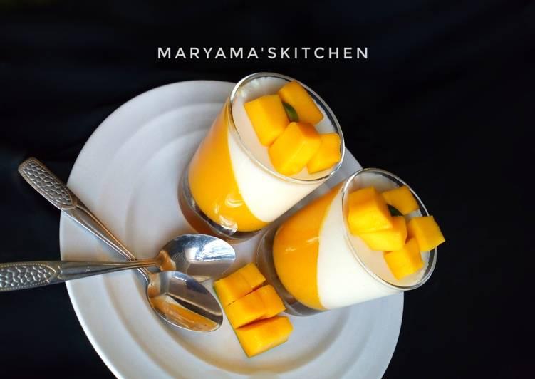 Recipe of Quick Mango pannacotta🥂