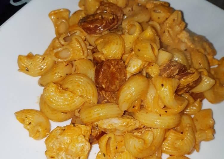 Pasta au chorizo et au poulet