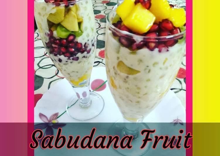 Step-by-Step Guide to Make Super Quick Homemade Sabudana sago fruit pudding