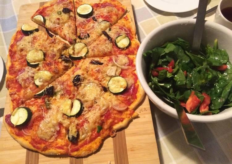 Szybka pizza z warzywami