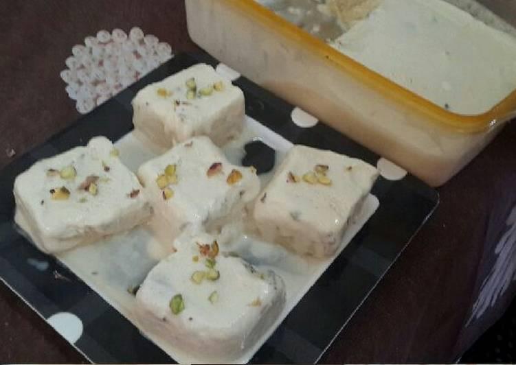 Bread Malai Kulfi Slices