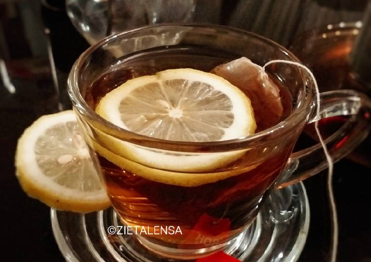 Teh Lemon Panas - resepipouler.com