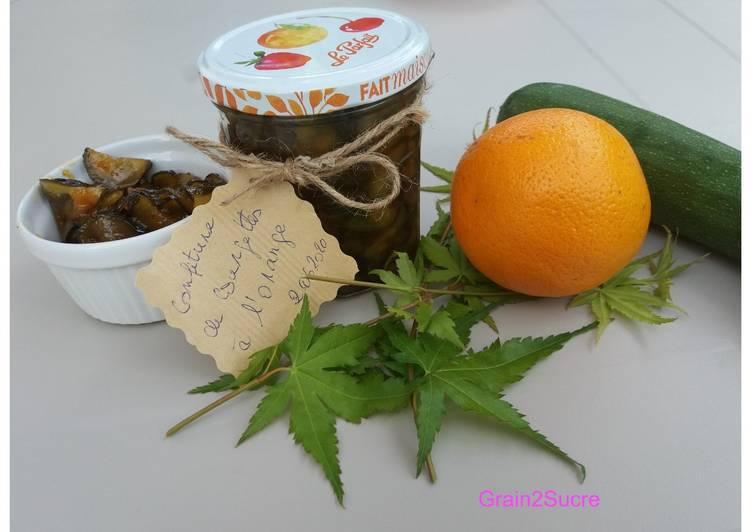 Confiture de courgettes à l'orange