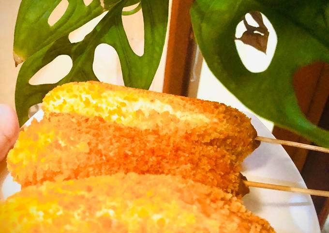 Cara Gampang Membuat Corn Dog Mozza Sausage  Anti Gagal
