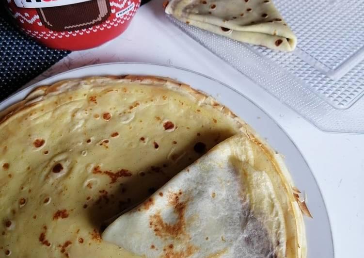 Recette Appétissante Crêpes moelleuse à la vanille