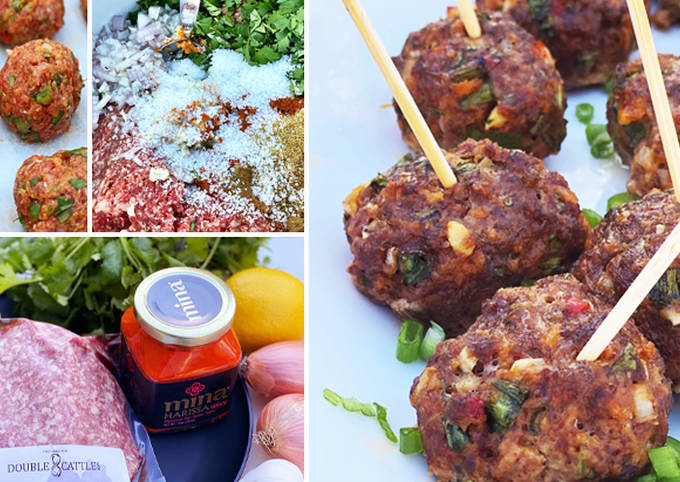 Spicy Wagyu Beef and Harissa Meatballs with Dip