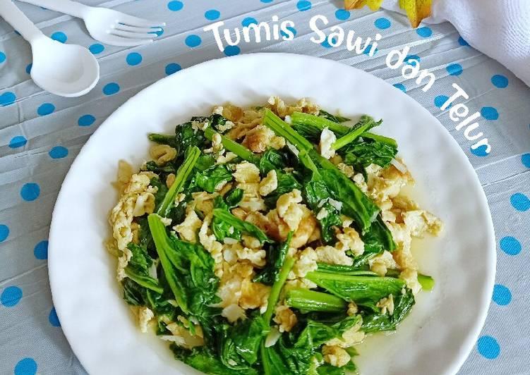 Tumis Sawi dan Telur