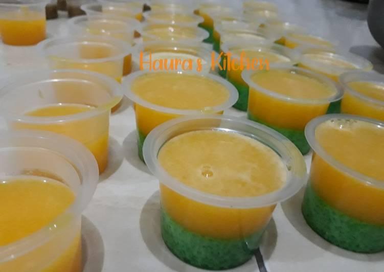 Puding lumut jeruk