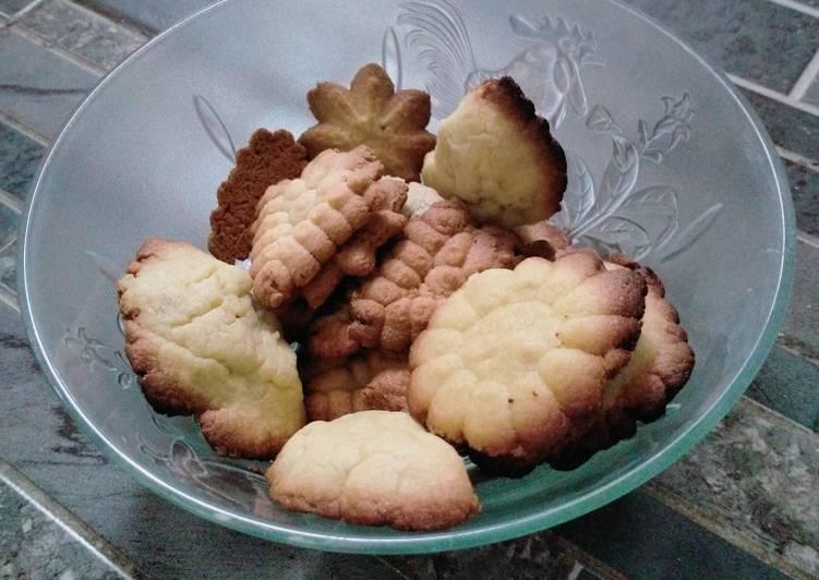 Cookies coklat no mixer