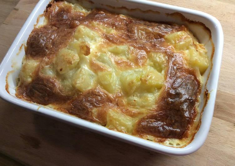 recette Pommes de terre à la crème de chèvre délicieux