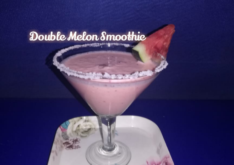 Recipe of Any-night-of-the-week Double Melon Smoothie