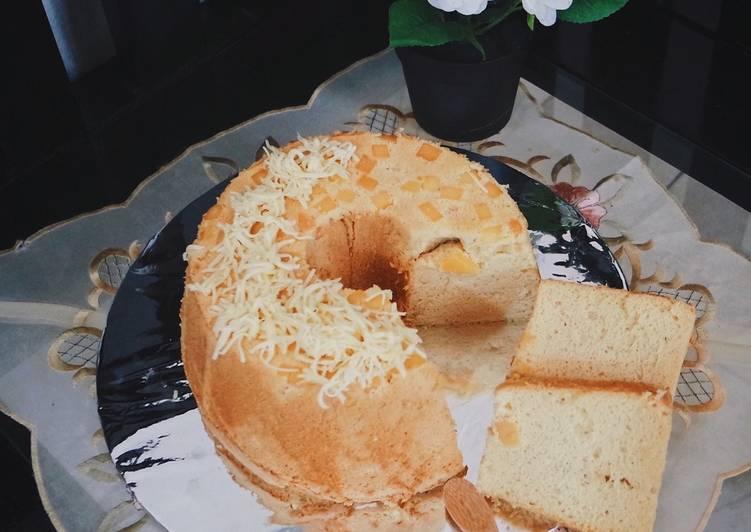 Vanilla cheese chiffon cake (low fat,less sugar)