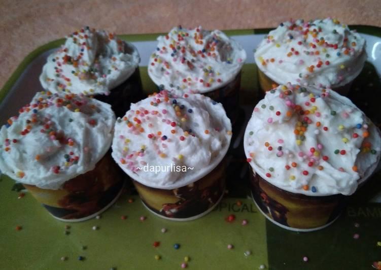 Brownies kukus 1 telur no mixer gak seret versi cup cake
