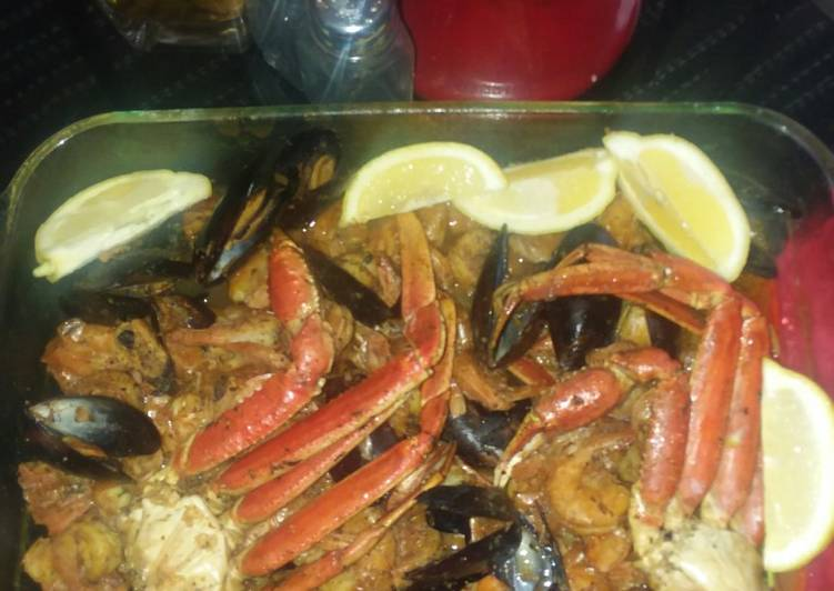 Crab boil in a oven Bag