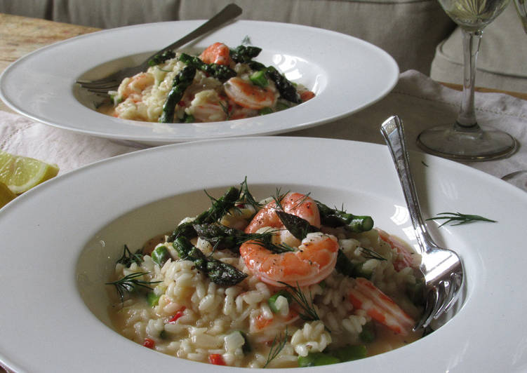 Recipe of Any-night-of-the-week Prawn and Asparagus Risotto