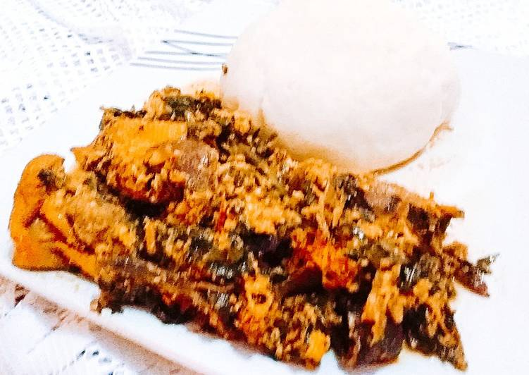 Grandmother's Dinner Easy Fall Pounded Yam and Egusi soup