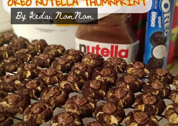 Oreo nutella thumbprint