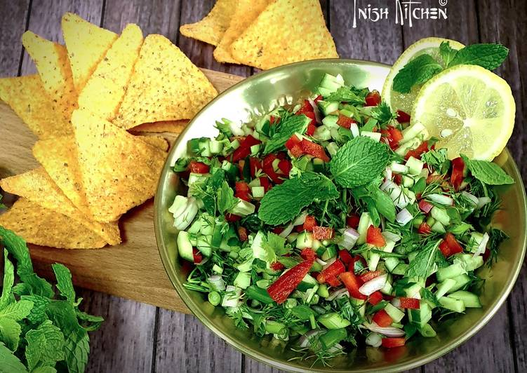 Steps to Prepare Perfect Cucumber Salsa with Tortilla Chips
